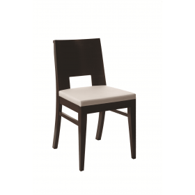 Modena side chair RFU seat and veneer back raw