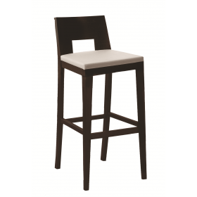 Modena bar stool RFU seat and veneer back raw