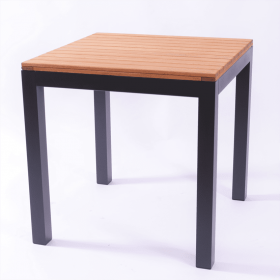 PIER SQ DINING TABLE OILED ANTH 750mm