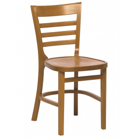Michigan stacking side chair veneer seat raw