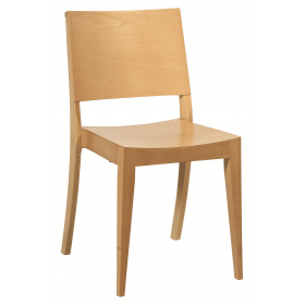 Reuben stacking side chair veneer seat and back