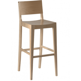 Reuben bar stool veneer seat and back raw