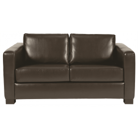 Chorus two seater sofa UPH faux leather dark brown