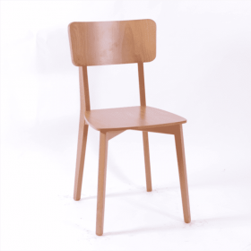 Strada side chair veneer seat & back raw
