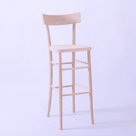 Mylon bar stool veneer seat & back raw