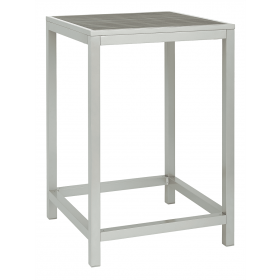 BREW EZICARE BAR SQ TABLE GREY SIL 750mm