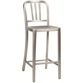 MEZZI ALU BAR STOOL BRUSHED