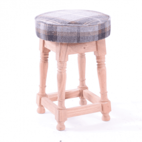 Dublin low stool frame only acacia raw