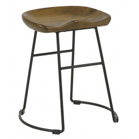 Veuve low stool solid seat  antique black