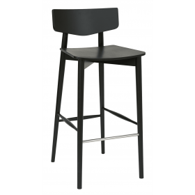 Tori bar stool veneer seat & back raw