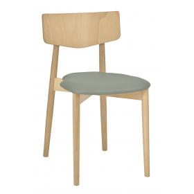 Tori stacking side chair veneer seat & back raw