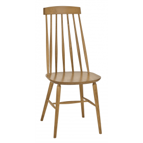 Helena high back side chair veneer seat raw