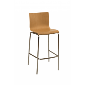Hale stacking bar stool beech veneer natural