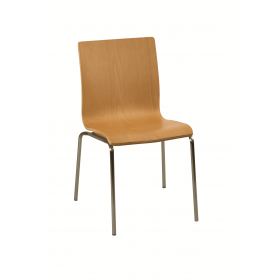 Hale stacking side chair beech veneer natural