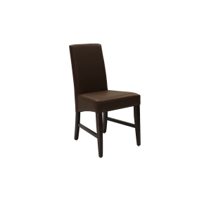 CHICAGO SIDE CHAIR UPH STBK FAUX L