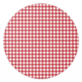 GINGHAM AW 600MM ROUND TOP