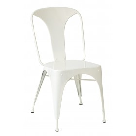 RELISH STEEL INDUSTRIAL SIDE CHAIR WHITE