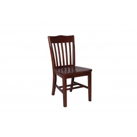 Rochester side chair solid seat raw