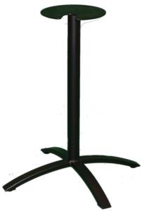 Bridge 4 leg table base black dining height