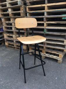 Venturi bar stool Natural-Black