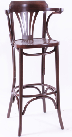Norma Bar Stool Veneer Seat Steamed Beech Raw